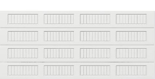 18 x 8 Thermacore Insulated Steel Garage Door (V10) white panels, no window
