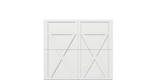 8 x 7 garage door white panel  - Courtyard 167t square - no window
