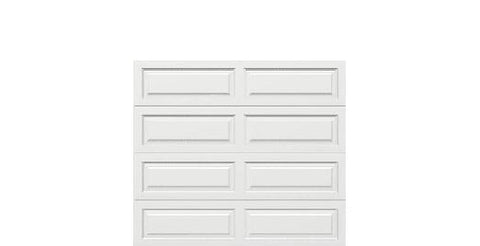 8 x 7 Traditional Steel Garage Door long white panels, no window