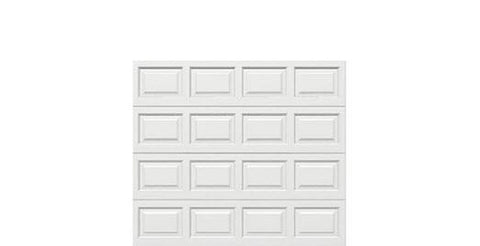 8 x 7 Traditional Steel Garage Door (Standard) white panels, no window