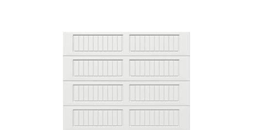 9 x 7 Thermacore Insulated Steel Garage Door (V10) white panels, no window