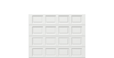 9 x 7 Thermacore Insulated Steel Garage Door standard white panels, no window