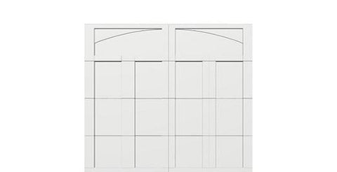 9 x 8 garage door white panel  - Courtyard 163t arch - no window