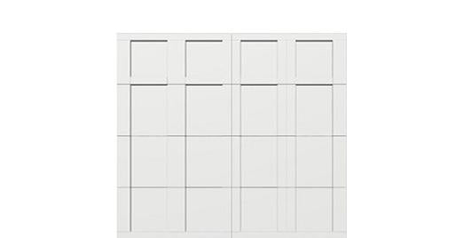 9 x 8 garage door white panel  - Courtyard 163t square - no window