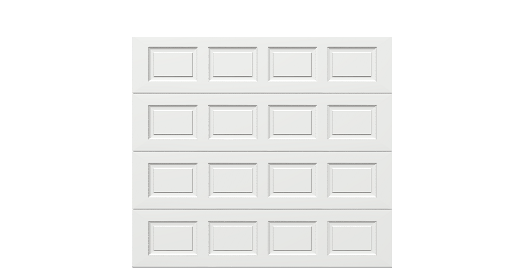 9 x 8 Thermacore Insulated Steel Garage Door standard white panels, no window