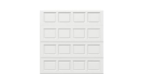 8 x 8  Traditional Steel Garage Door standard white panels, no window