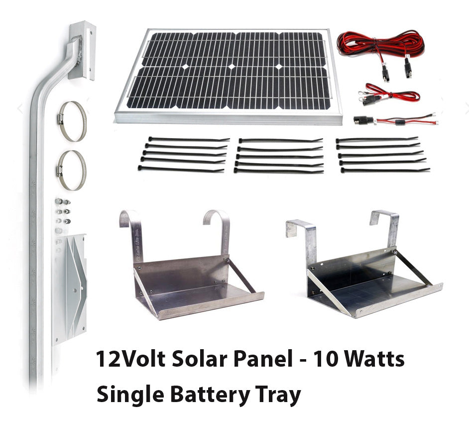 Boat Lift Motor 12 Volt DC - Solar Panel Kit - 10 Watts - Lift Marine