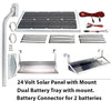 Boat Lift Motor 24 Volt DC - Solar Panel Kit - 20 Watts - Lift Marine
