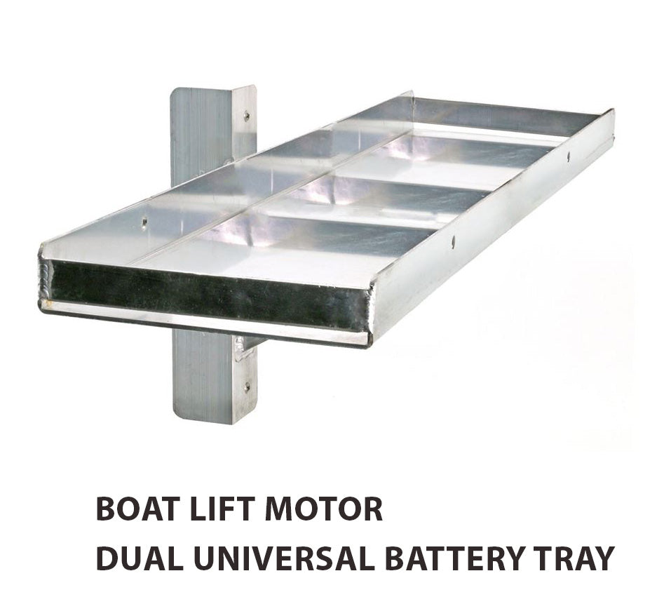 Boat Lift Motor Dual Universal Battery Tray - Lift Marine