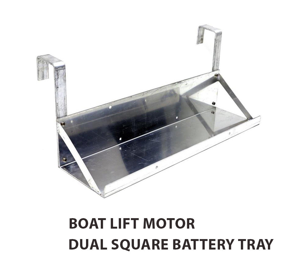 Boat Lift Motor Dual Battery Tray (Square Arms) - Lift Marine