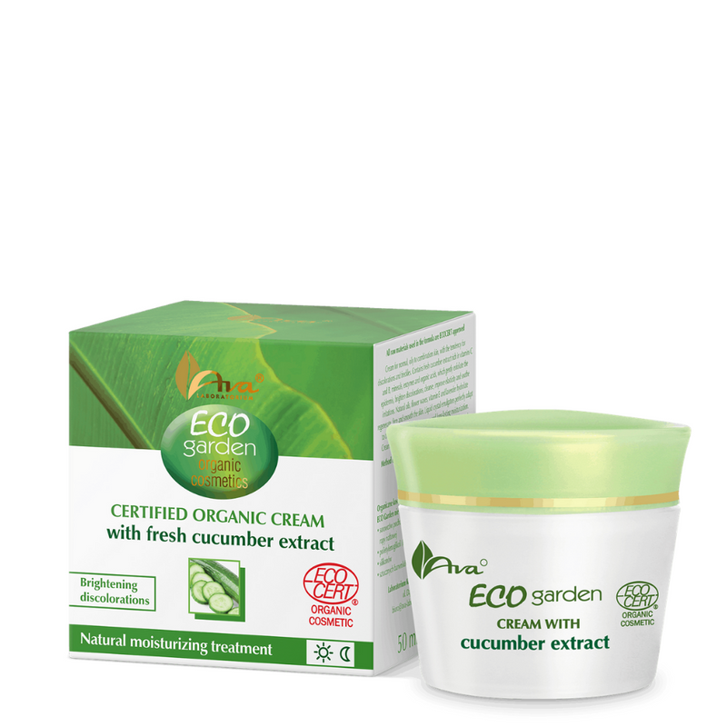 ECO GARDEN Certifed Organic Cream with Fresh Cucumber Extract 20+