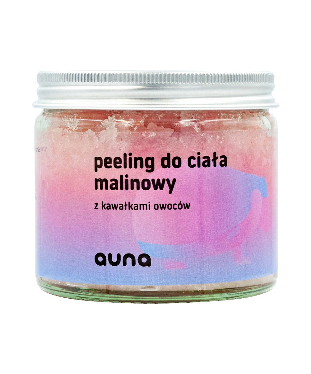 Raspberry Body Scrub, Lotions, Auna Vegan, Nat-ul