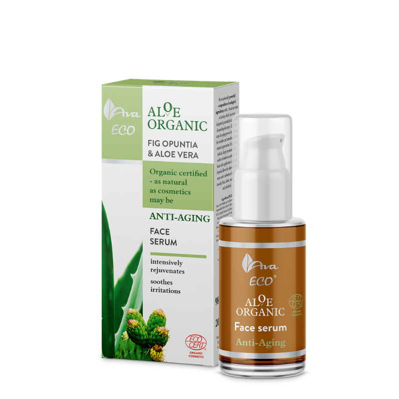 ALOE ORGANIC Anti-aging Face Serum Fig Opuntia and Aloe Vera, Serum, Ava, Nat-ul