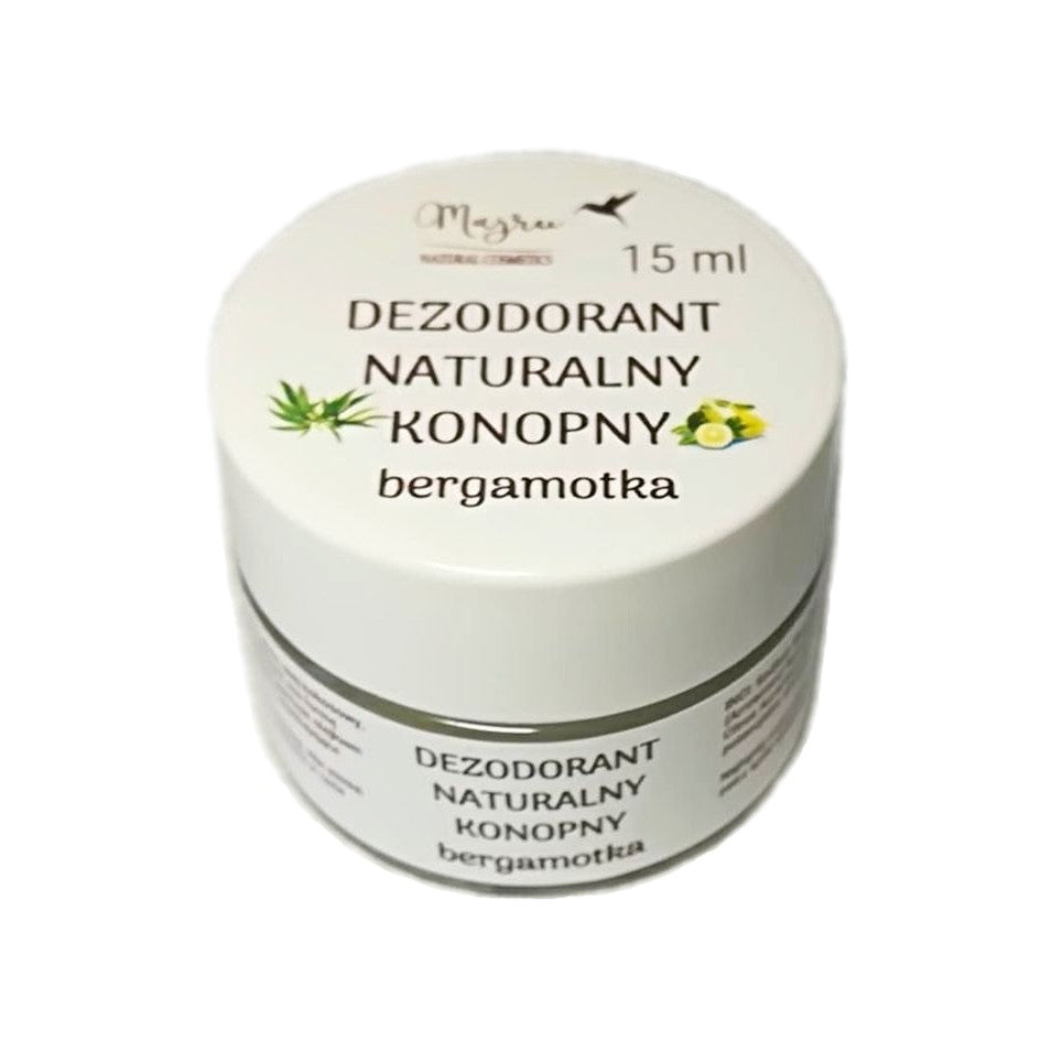 Natural Hemp Seed Oil and Bergamot Deodorant 15ml, Deodorant, Majru, Nat-ul