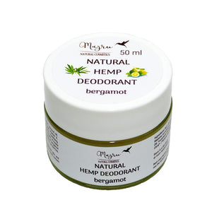 Natural Hemp Seed Oil and Bergamot Deodorant 50ml, Deodorant, Majru, Nat-ul