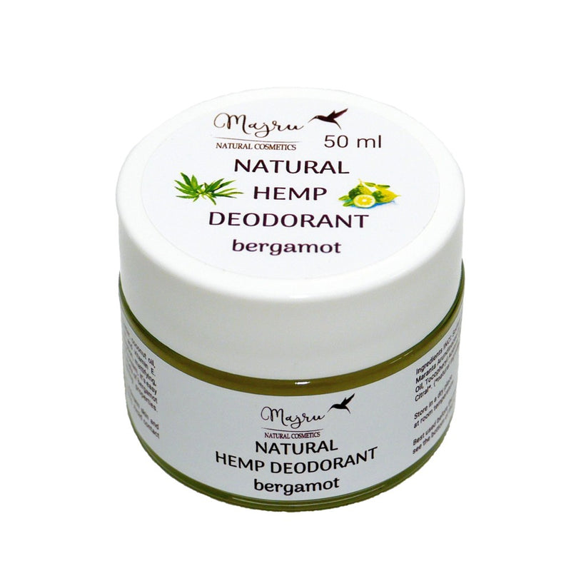 Natural Hemp Seed Oil and Bergamot Deodorant, Deodorant, Majru, Nat-ul
