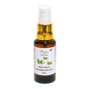 Hemp Seed Oil Serum for Hand and Foot 30%, Hand Cream, Majru, Nat-ul