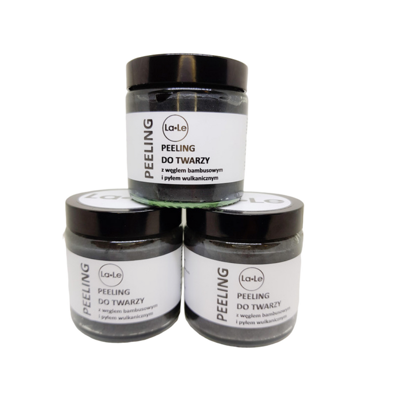 Face Peeling with Bamboo Charcoal and Volcanic Ash