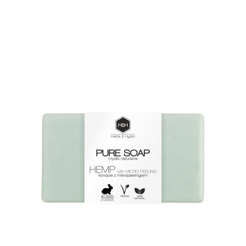 Pure Soap- Hemp with Micropeeling, Soaps, Herbs & Hydro, Nat-ul