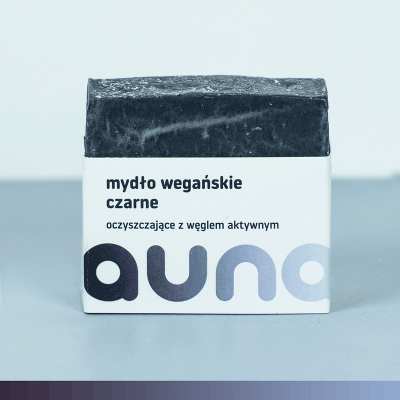Black Soap Bar with Active Charcoal, Soap, Auna Vegan, Nat-ul
