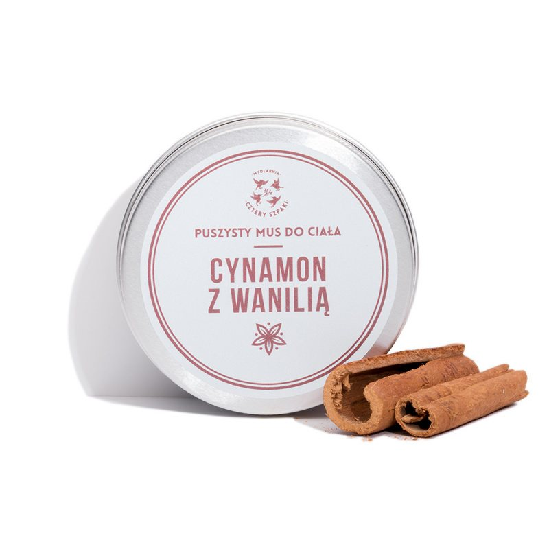 Cinnamon and Vanilla Body Mousse, Lotions, Cztery Szpaki, Nat-ul