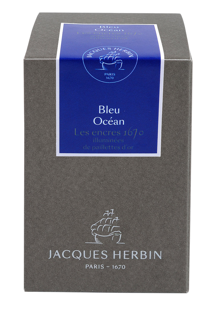 J. Herbin 1670 Fountain Pen Ink - Bleu Océan - 50ml Bottle - Grand Vision Pens UK