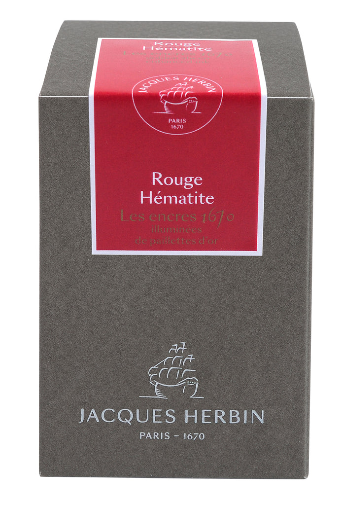 J. Herbin 1670 Fountain Pen Ink - Rouge Hématite - 50ml Bottle
