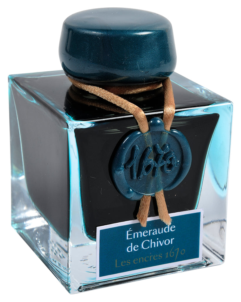 J. Herbin 1670 Fountain Pen Ink - Émeraude de Chivor - 50ml Bottle