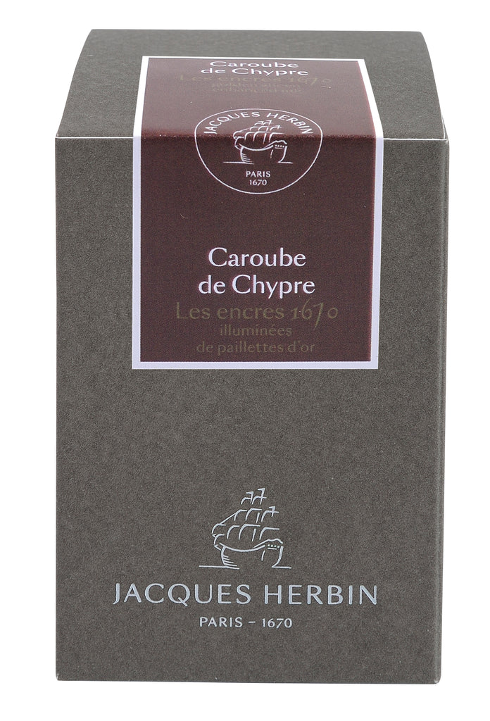 J. Herbin 1670 Fountain Pen Ink - Caroube de Chypre - 50ml Bottle