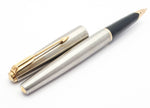 Vintage Parker 65 Flighter Fountain Pen: 14k Gold Medium Nib