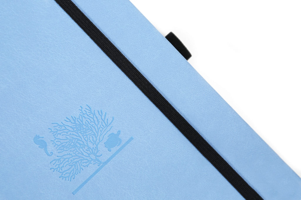 Dingbats* Earth Dotted A5 Notebook: Sky Blue Great Barrier Reef - Grand Vision Pens UK