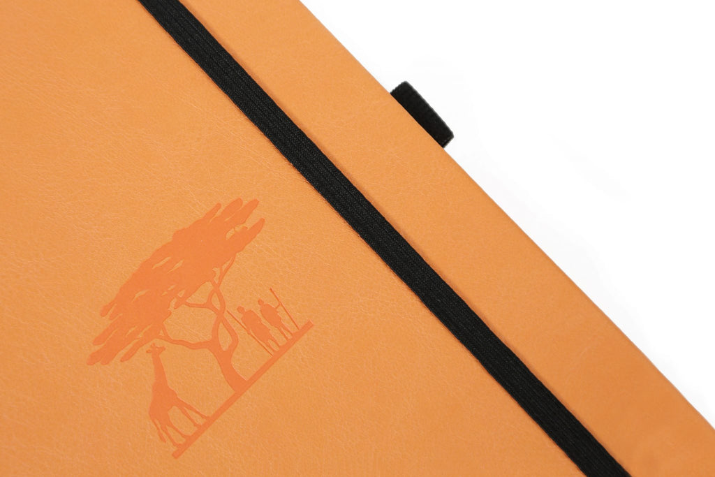 Dingbats* Earth Dotted A5 Notebook: Tangerine Serengeti - Grand Vision Pens UK
