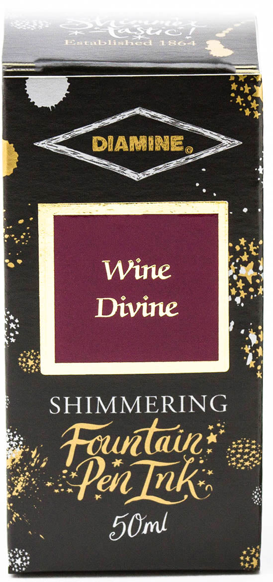 Diamine Shimmering Fountain Pen Ink - Wine Divine - 50ml