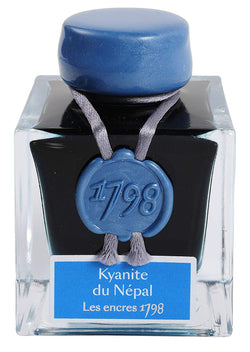 J. Herbin '1798' Anniversary Fountain Pen Ink - Kyanite du Népal - 50ml Bottle