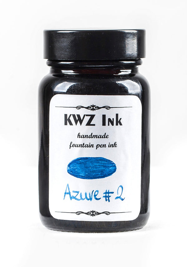 KWZ Inks Standard Fountain Pen Ink - Azure #2 - 60ml Bottle - Grand Vision Pens UK