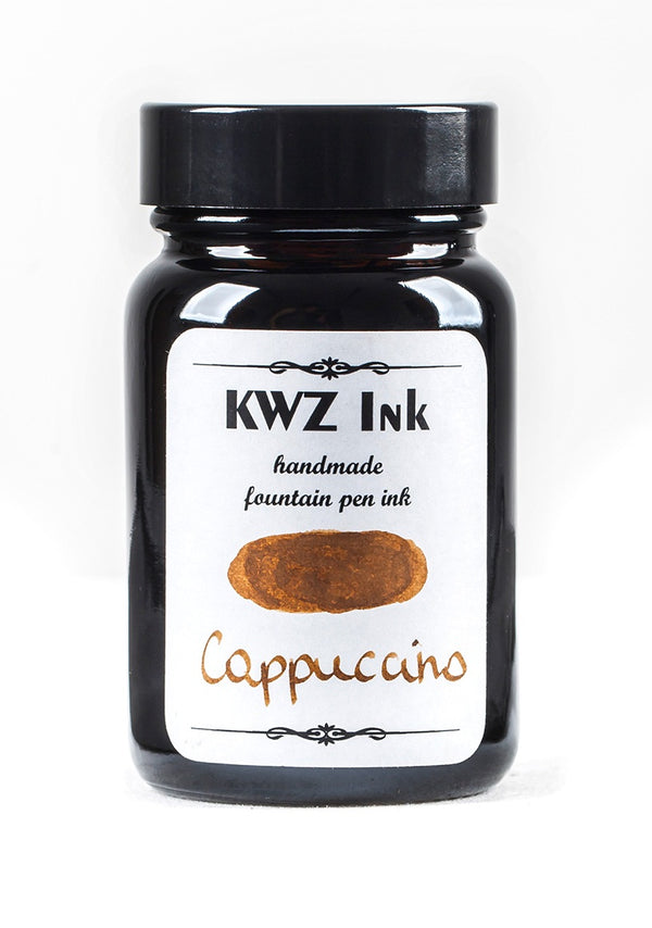 KWZ Inks Standard Fountain Pen Ink - Cappuccino - 60ml Bottle - Grand Vision Pens UK