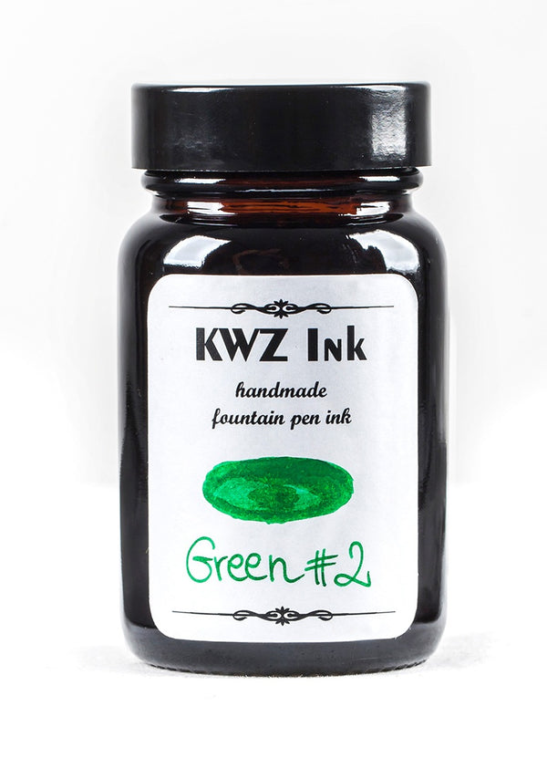 KWZ Inks Standard Fountain Pen Ink - Green #2 - 60ml Bottle - Grand Vision Pens UK