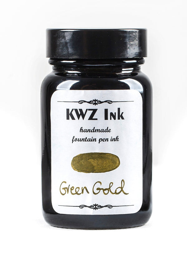 KWZ Inks Standard Fountain Pen Ink - Green Gold - 60ml Bottle - Grand Vision Pens UK