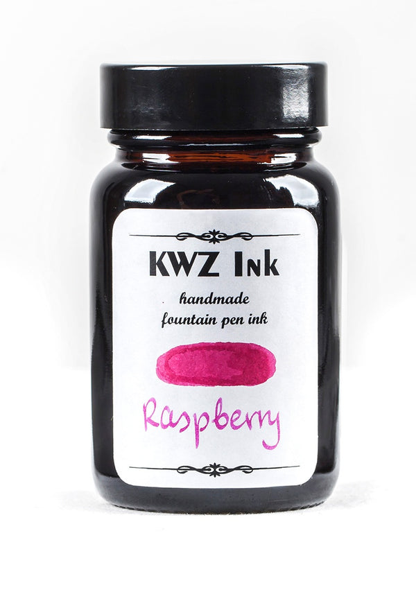 KWZ Inks Standard Fountain Pen Ink - Raspberry - 60ml Bottle - Grand Vision Pens UK