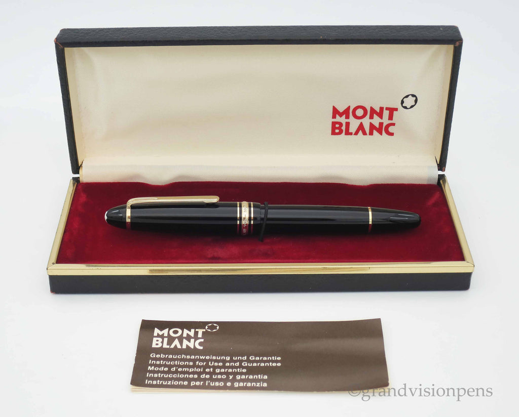 Montblanc Meistserstuck No.146 Le Grand Piston Filled Fountain Pen 14k Medium Nib - Grand Vision Pens UK
