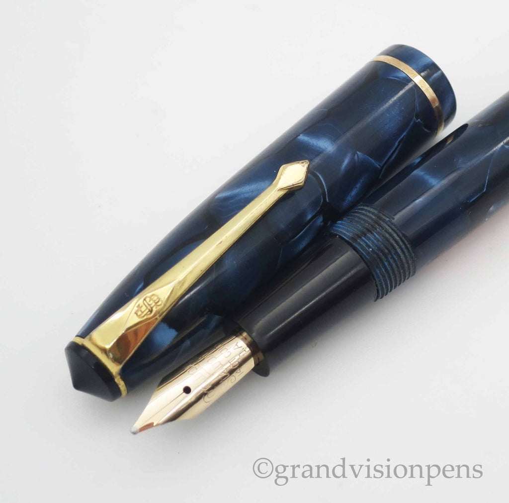 Conway Stewart No.15 Lever Filled Fountain Pen 14k Italic Flex Nib (Excellent) - Grand Vision Pens UK