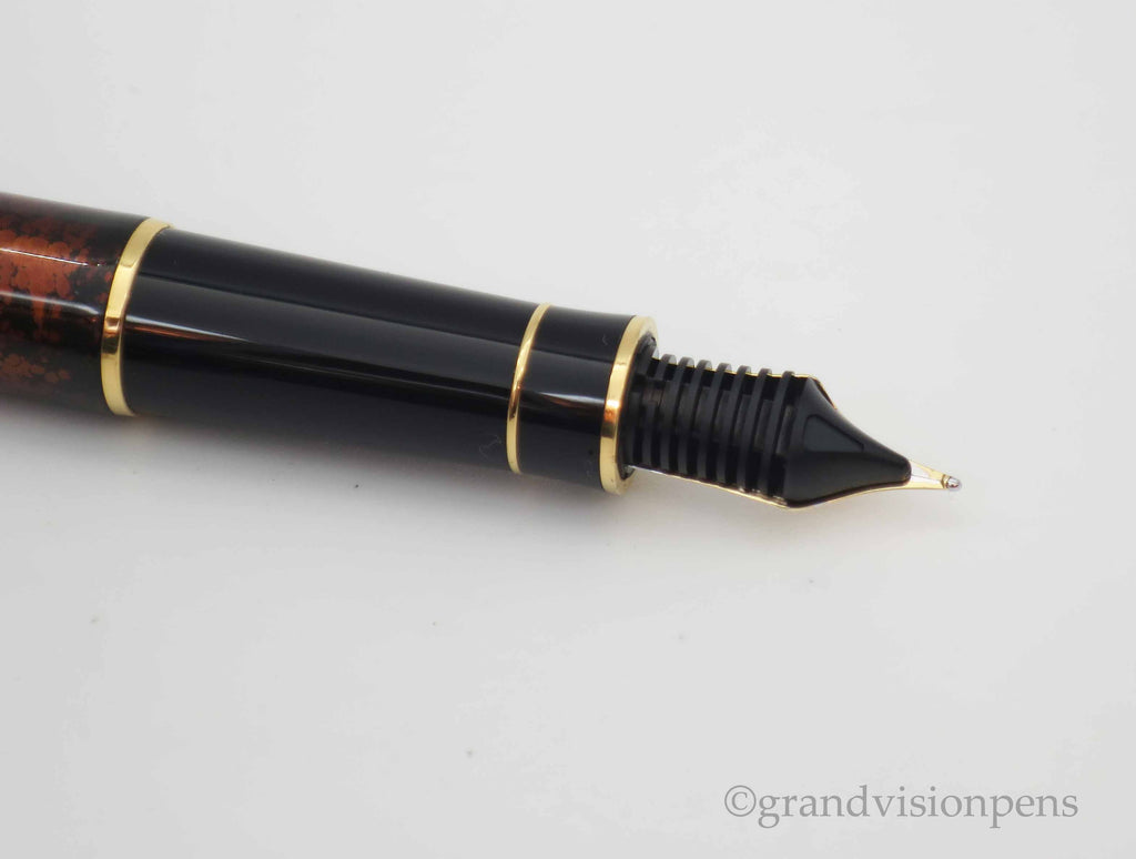 Rare Prototype Parker SENATOR Fountain Pen Chinese Laque Vision Fonce 18k Medium Nib (Excellent Condition) - Grand Vision Pens UK