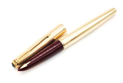 Vintage Parker 61 Custom Insignia Fountain Pen 14k Gold Medium Nib