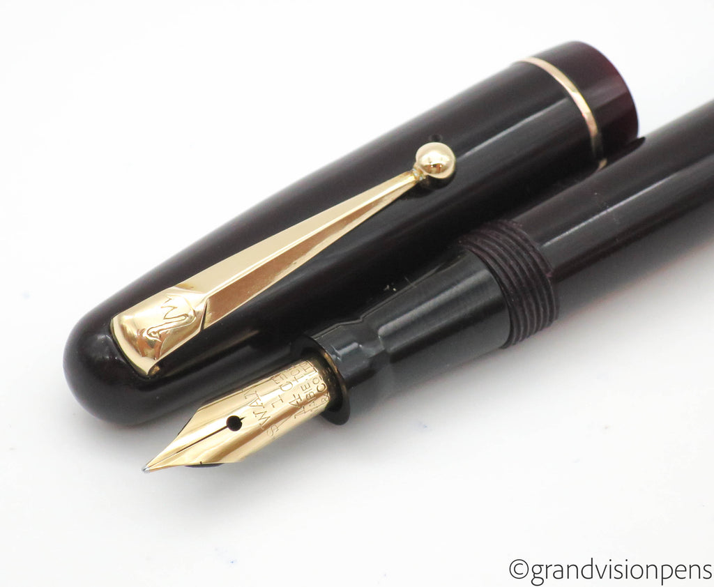 Vintage SWAN Self Filler Fountain Pen by Mabie Todd 14k EF Flex Nib (Serviced) - Grand Vision Pens UK