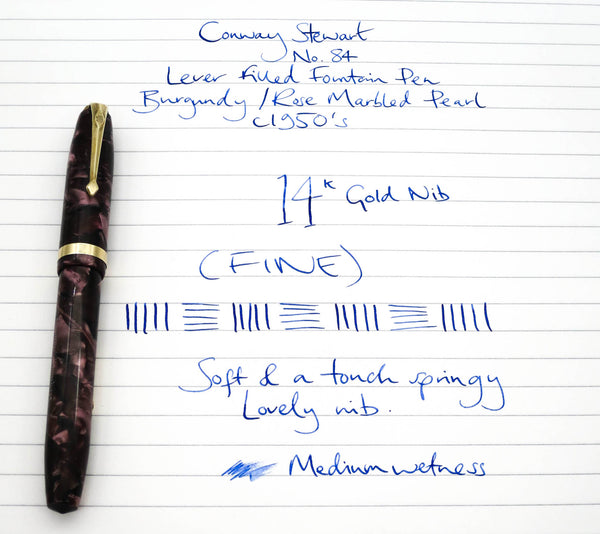 Vintage Conway Stewart No.84 Fountain Pen & Pencil Set