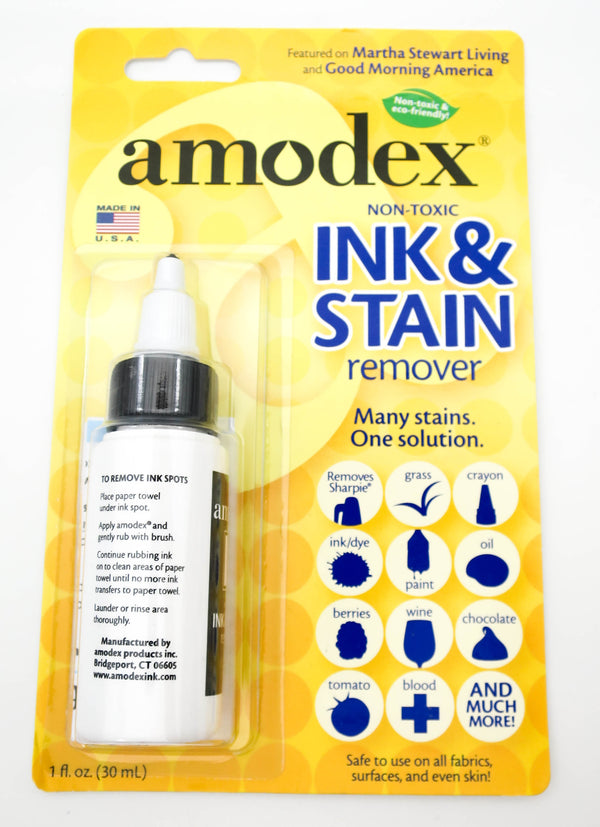 Amodex Non Toxic Ink & Stain Remover 30ml - Grand Vision Pens UK