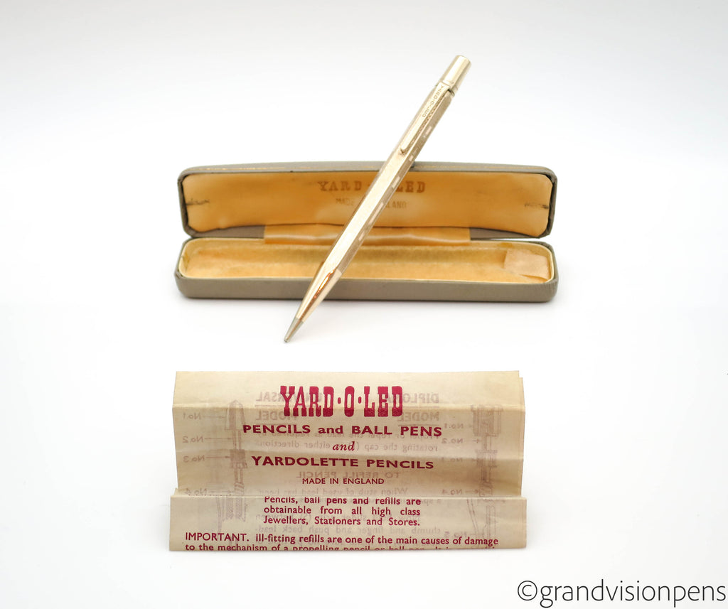 Boxed Vintage Yard-O-Led Rolled Gold Propelling Pencil (Serviced, Excellent) - Grand Vision Pens UK