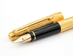 Boxed Parker 75 Perle Gold Plated Fountain Pen & Ballpoint Pen Set (Serviced, Excellent) - Grand Vision Pens UK