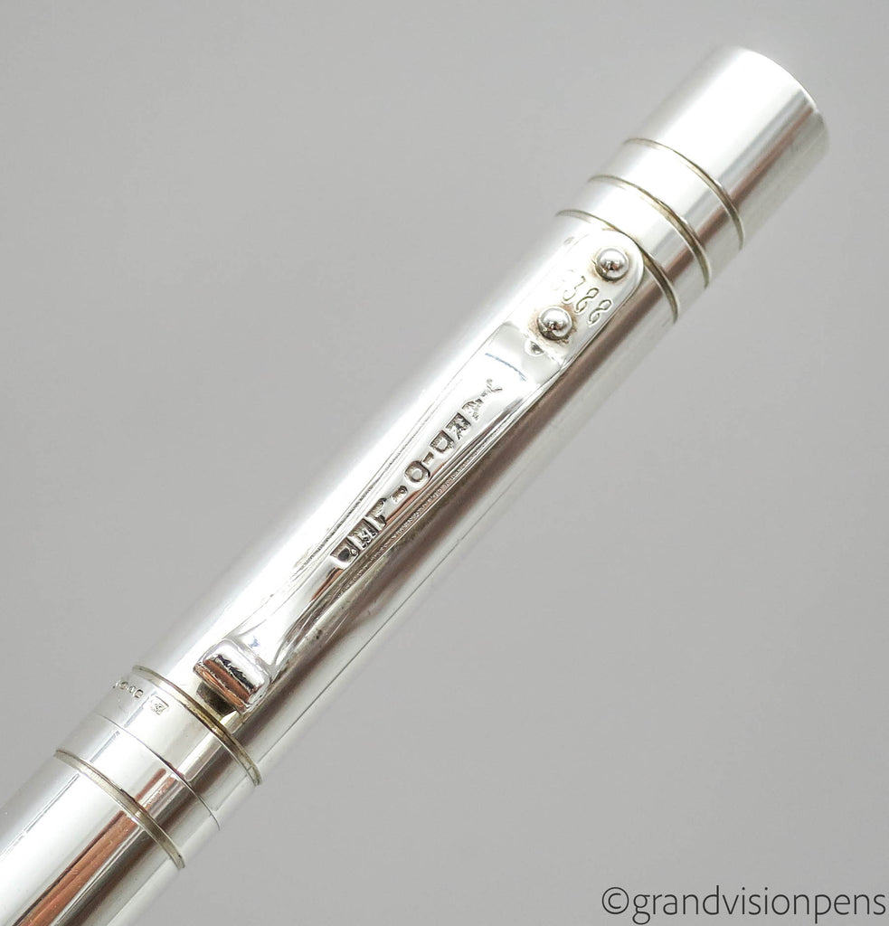 Yard-O-Led Viceroy Sterling Silver Fountain Pen 18k Medium Nib