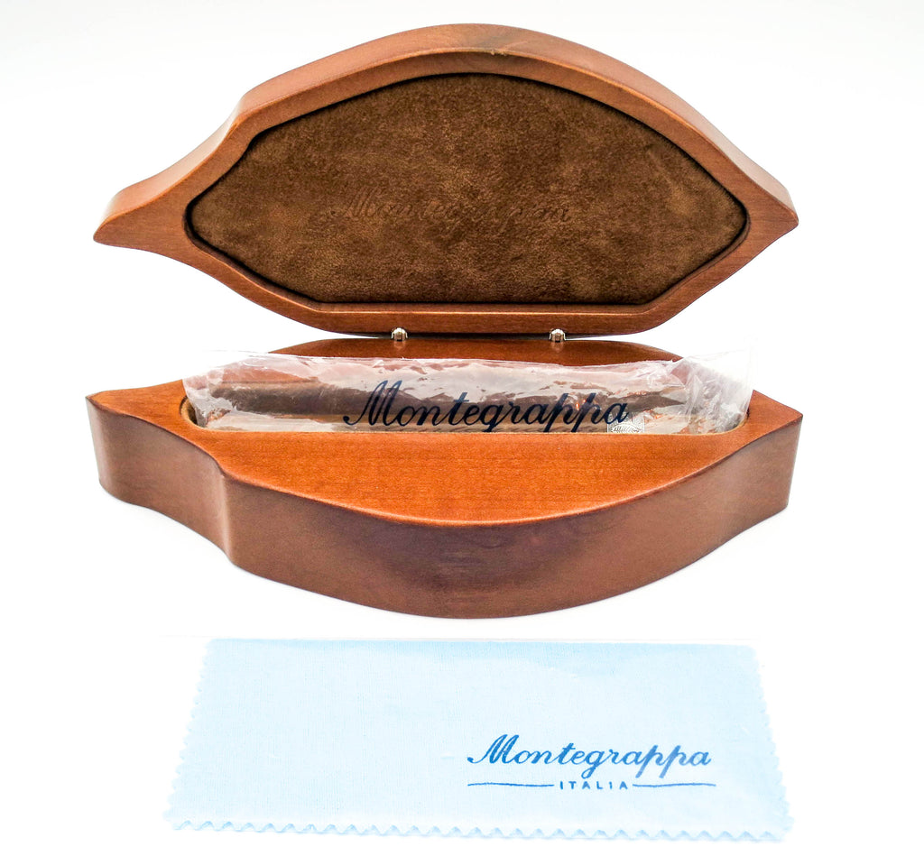 Limited Edition Boxed Montegrappa Cigar Fountain Pen 18k Medium Nib (Mint) - Grand Vision Pens UK